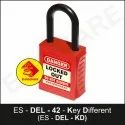 PLSP DE - Electric Padlock With Nylon Shackle - Key Different