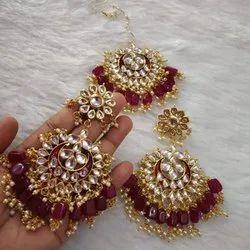 Brass Women Ladies Designer Earrings Set