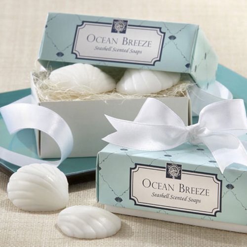 Gift For Wedding Guests Thank You: Beach Theme Scent Shell Soap Favors & Gifts For Best