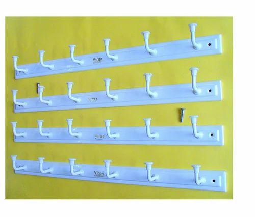 Wall Hook Hanger Set of 4 Elegant 6 Hook Cloth Hanger