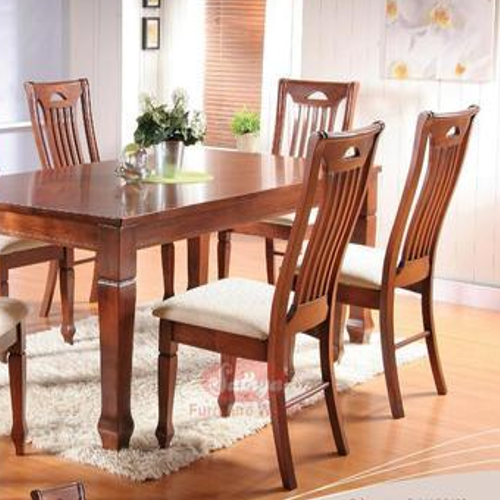 Teak wooden dining table Chair Teak Wood Dining Table Indiamart Teak Wood Dining Table View Specifications Details Of Wooden