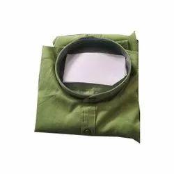 Plain Collar Neck Mens Green Cotton Shirts, Size: S-XXL