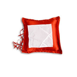 Square Button Satin Cushion