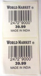 Market Printed Barcode Label