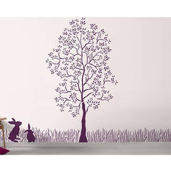 Enchanted Forest Wall Stencil