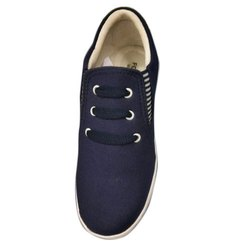 Blue Casual Wear Ladies Canvas Lace Up