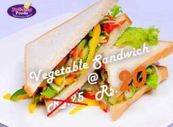 Vegetable Sandwich Full Of Salads
