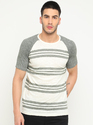 Masculino Latino S And M Casual Stripes T Shirt