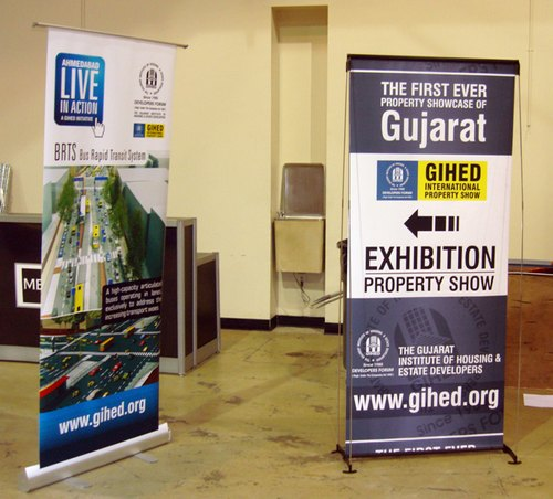 Collapsible Banner Stands For Exhibition Stall Decoration