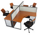 Desking with Center Partition 4 Seater