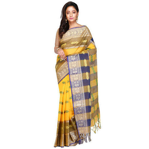 a8442c61dc095c Printed Party Wear And Party Wear Fashionable Handloom Cotton Silk Saree