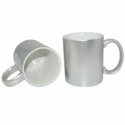 Ceramic Sublimation Silver Mug, for Home, Capacity: 280ml