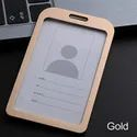 Metal Id Card Holder Pack Of 10 Black Colour (Gold)