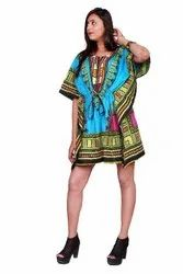 Cotton Printed Dashiki Kaftan