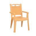 Beige High Back Plastic Chair