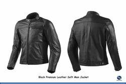 Men Soft Black Premium Leather Jacket