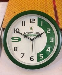 Green Frame Promotional Wall Clock