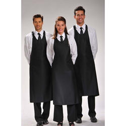 d15b0a27c17 Black And White Polyester Restaurant Waiter Uniforms