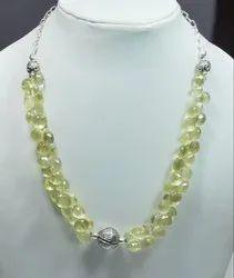 925 Sterling Silver Lemon Topaz Necklaces
