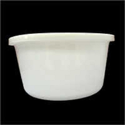 White Round Food Container