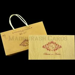 MDF Excluisive (Wooden) Wedding Invitation Card, Size/Dimension: 9.5 X 5.25 X 1