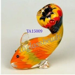 Fish Shape Glass Smoking Pipe