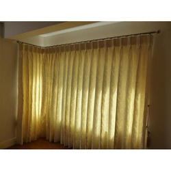Polyester Plain Hand Made Fancy Curtain, For Window