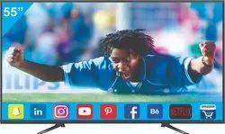 Black Plastic 55 Inch Smart 4K LED TV