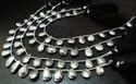 Silver Pyrite Pear Shape Beads