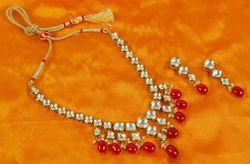 NARBH INDIA INC. RUBY Kundan Meena Jewelry Necklace KMSet