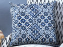 Beautiful Cushion Covers With Chambray Cotton The Swati Mandala Embroidery.