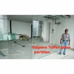 Plain Toughened Glass Partition