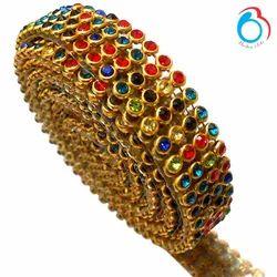 7e1ab7fe4510 Silk Thread Jewelry Embroidery Crystal Rhinestone Lace - Multicolor ...
