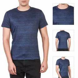Men  Blue Round Neck t - Shirt