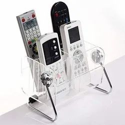 6-Slot Clear Home Desk TV -Remote Control Storage Holder