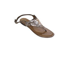 09f53313c8d Leather Ladies Flat Sandal, Rs 550 /pair, K.G.Shoe Exports | ID ...