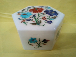Designer Marble Inlay Jewelry Box