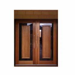 Wooden(frame) Exterior Double Wooden Door, For Home