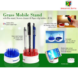 Mobile Stand With Pen Stand & Paper Clip Holder