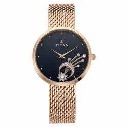 Golden Stellar By Titan Mint Dial Analog Watch for Women