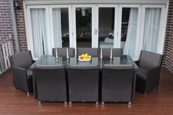 Rattan Chair Table Set
