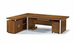 WOODEN 'L'SHAPE EXECUTIVE TABLE