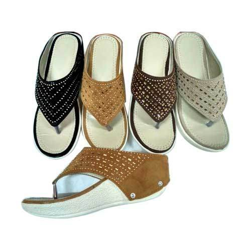 Rexine Ladies Heels Chappal, Size: 6