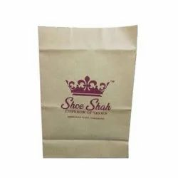 Brown Printed Shoes Paper Carry Bag, For Grocery, Bag Size: 15.5 X 9 X 5 Inch