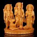 Wood Ram Darbar Statue