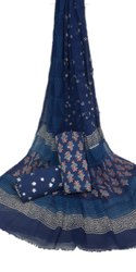 Printed Cotton Dress Material With Chiffon Dupatta