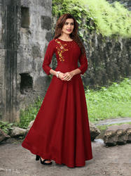 Embroidery Work Gown Kurti Navrat Vol-1