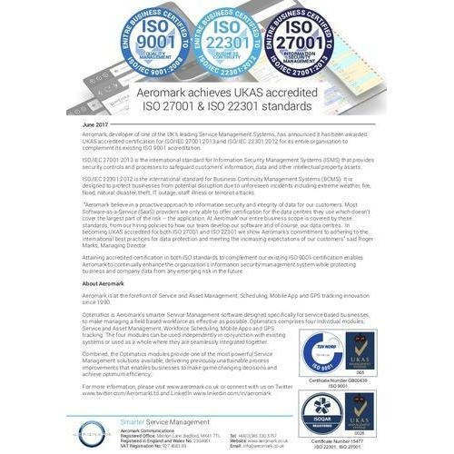 ISO 22301:2012 Certification