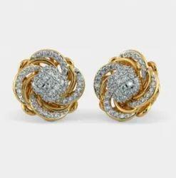 Golden Designer Gold Earrings