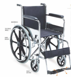 TOMMY MAG- Basic Steel Wheelchair